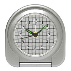 Gray Weave Desk Alarm Clock