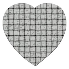 Gray Weave Jigsaw Puzzle (heart)
