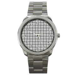 Gray Weave Sport Metal Watch