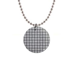 Gray Weave Button Necklace