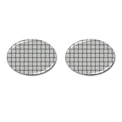 Gray Weave Cufflinks (Oval)