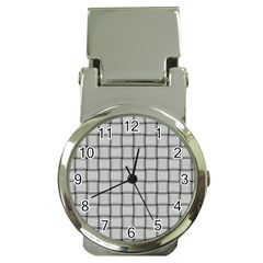 Gray Weave Money Clip with Watch