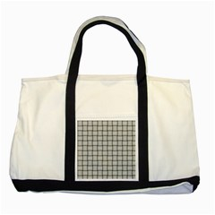 Gray Weave Two Toned Tote Bag