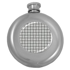 Gray Weave Hip Flask (round)