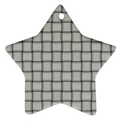 Gray Weave Star Ornament (two Sides)