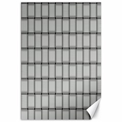 Gray Weave Canvas 12  x 18  (Unframed)