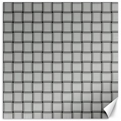 Gray Weave Canvas 20  x 20  (Unframed)