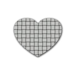 Gray Weave Drink Coasters 4 Pack (Heart)
