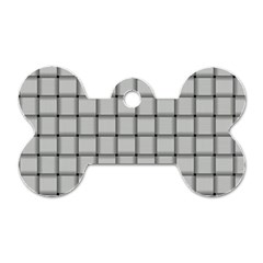 Gray Weave Dog Tag Bone (Two Sided)