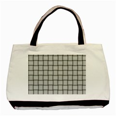 Gray Weave Twin-sided Black Tote Bag