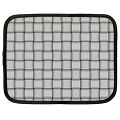 Gray Weave Netbook Case (Large)