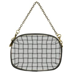 Gray Weave Chain Purse (One Side)