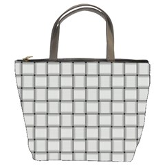Gray Weave Bucket Bag