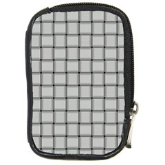 Gray Weave Compact Camera Leather Case