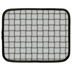 Gray Weave Netbook Case (xxl)