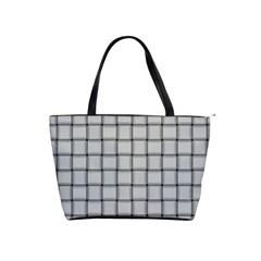 Gray Weave Large Shoulder Bag