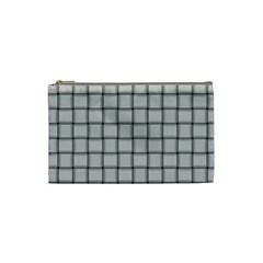 Gray Weave Cosmetic Bag (small)