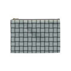 Gray Weave Cosmetic Bag (Medium)
