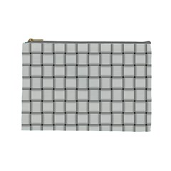 Gray Weave Cosmetic Bag (Large)