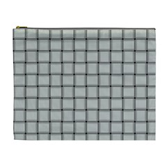 Gray Weave Cosmetic Bag (XL)