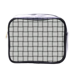 Gray Weave Mini Travel Toiletry Bag (one Side)