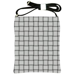 Gray Weave Shoulder Sling Bag