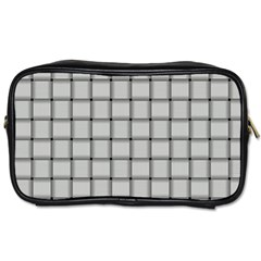 Gray Weave Travel Toiletry Bag (Two Sides)