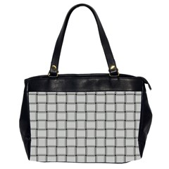 Gray Weave Oversize Office Handbag (two Sides)