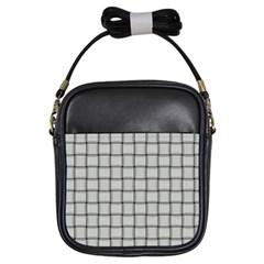 Gray Weave Girl s Sling Bag