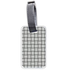 Gray Weave Luggage Tag (Two Sides)
