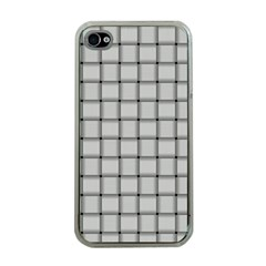Gray Weave Apple Iphone 4 Case (clear)