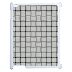 Gray Weave Apple iPad 2 Case (White)