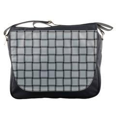 Gray Weave Messenger Bag