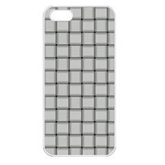 Gray Weave Apple iPhone 5 Seamless Case (White)