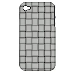 Gray Weave Apple iPhone 4/4S Hardshell Case (PC+Silicone)