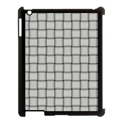 Gray Weave Apple iPad 3/4 Case (Black)