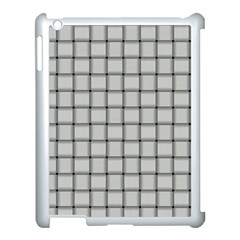Gray Weave Apple iPad 3/4 Case (White)