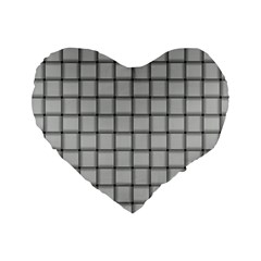 Gray Weave 16  Premium Heart Shape Cushion