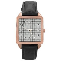 Gray Weave Rose Gold Leather Watch