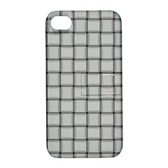 Gray Weave Apple Iphone 4/4s Hardshell Case With Stand