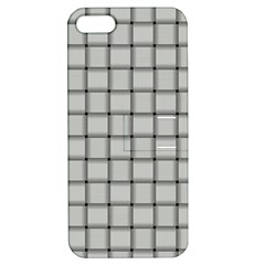 Gray Weave Apple Iphone 5 Hardshell Case With Stand