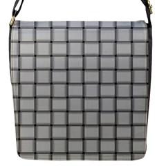 Gray Weave Flap closure messenger bag (Small)
