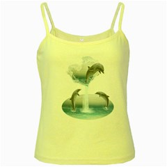 The Heart Of The Dolphins Yellow Spaghetti Tank