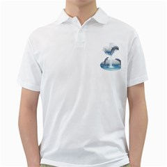 The Heart Of The Dolphins Mens  Polo Shirt (White)