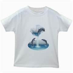 The Heart Of The Dolphins Kids' T-shirt (White)