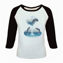 The Heart Of The Dolphins Women s Long Cap Sleeve T Shirt