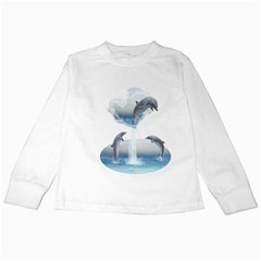 The Heart Of The Dolphins Kids Long Sleeve T-Shirt