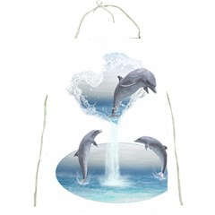 The Heart Of The Dolphins Apron