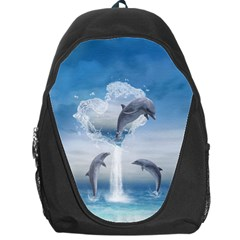 The Heart Of The Dolphins Backpack Bag