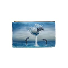 The Heart Of The Dolphins Cosmetic Bag (Small)